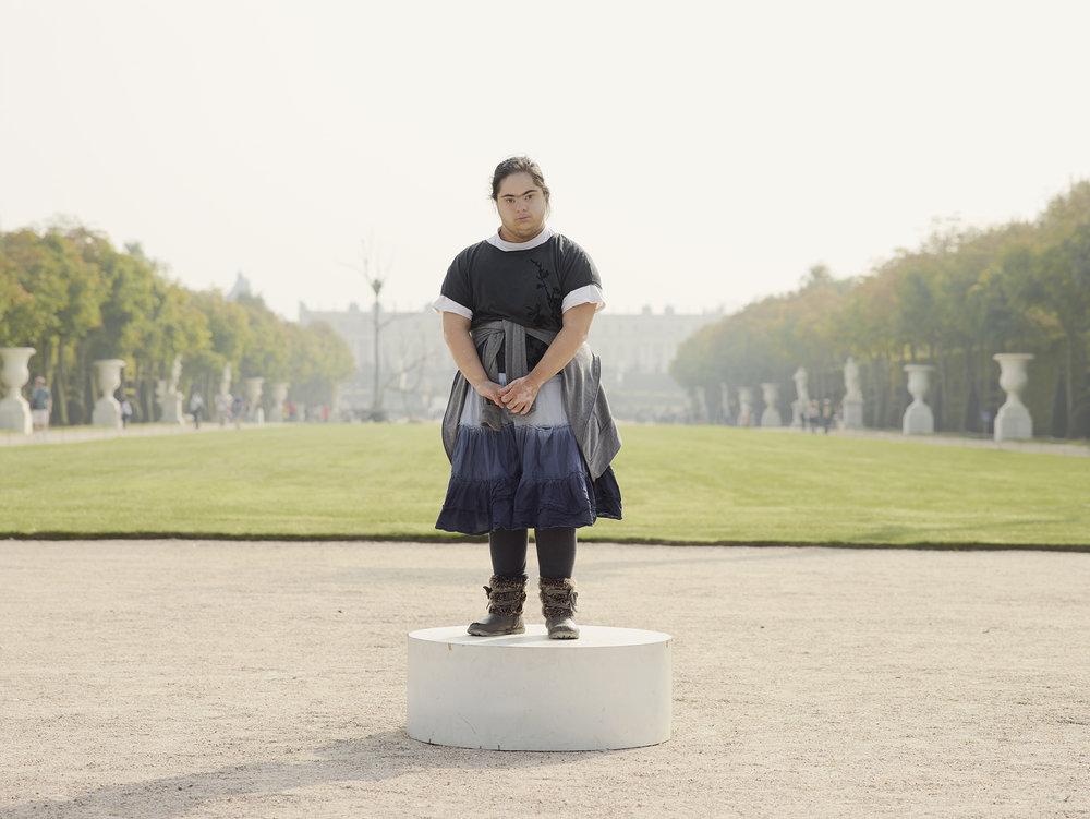 Versailles Jeune Fille jupe aux trois bandes.