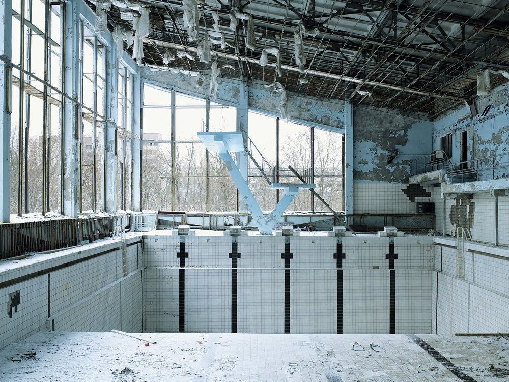 Tchernobyl 3. Swimming pool, Prypiat, Ukraine, 2007.