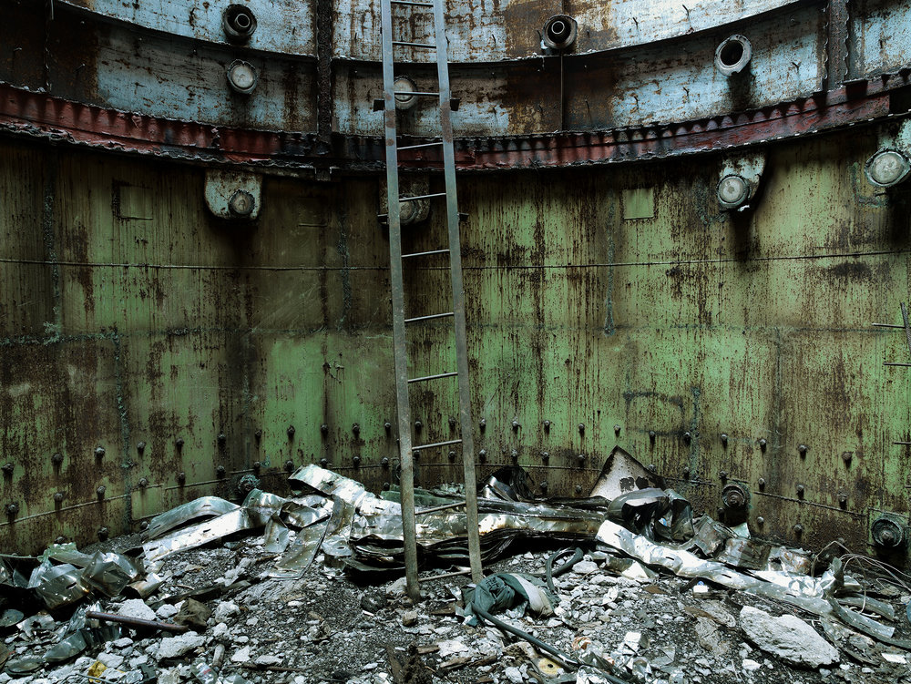 Heart of nuclear reactor, Ukraine, 2007.