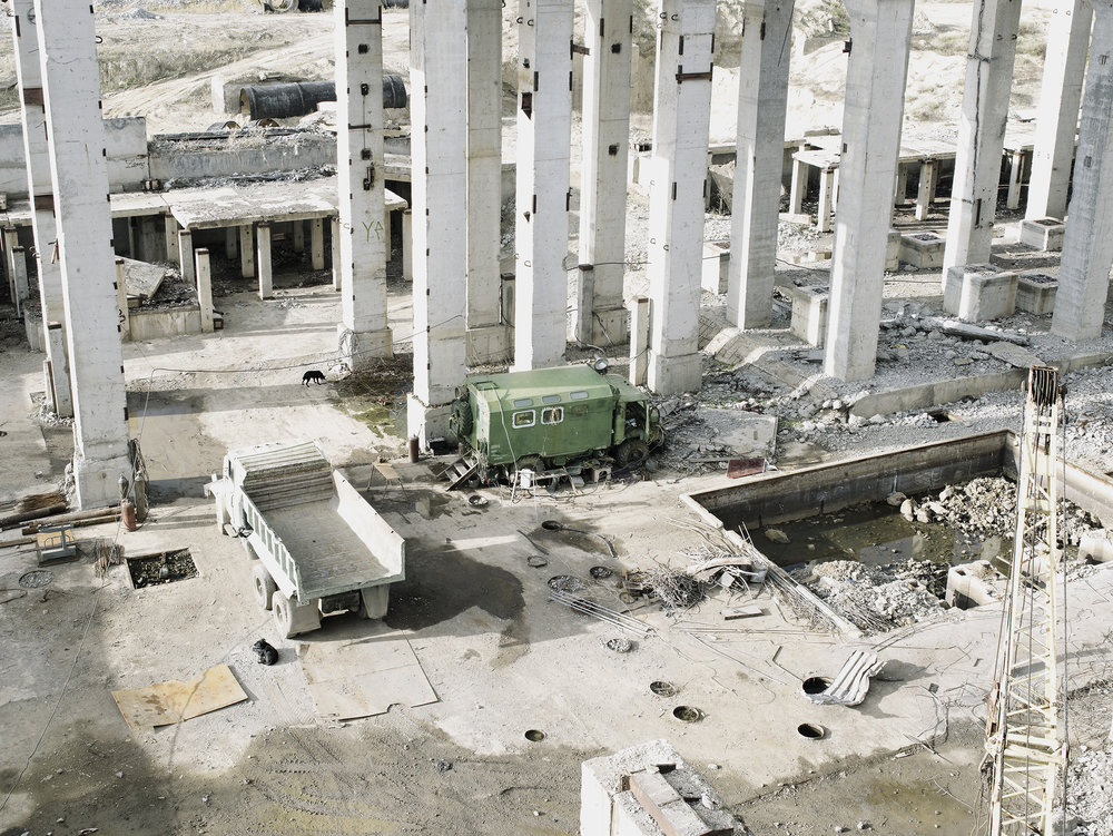 Demolishing a nuclear center 2, Ukraine, 2007.