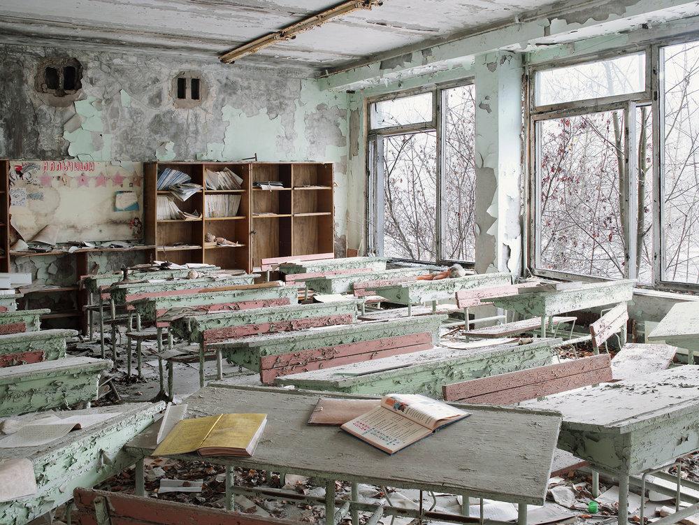 School class room, Prypiat, Ukraine, 2007.