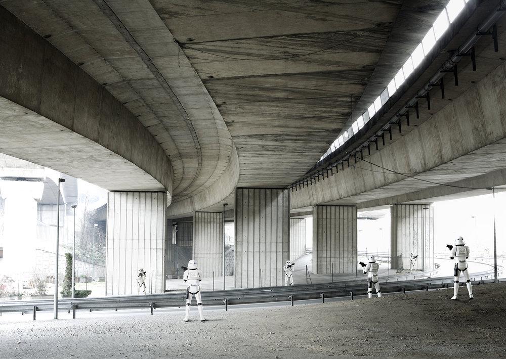 Stormtroopers Under Bridge. 2005