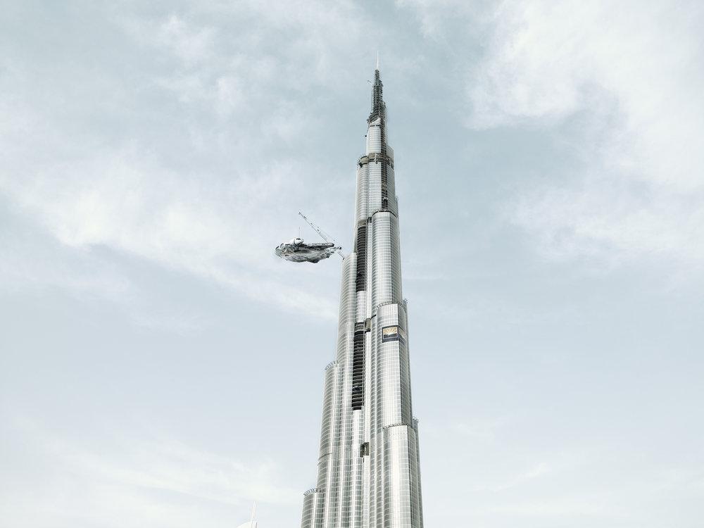 Stop At Burg Dubai. 2009
