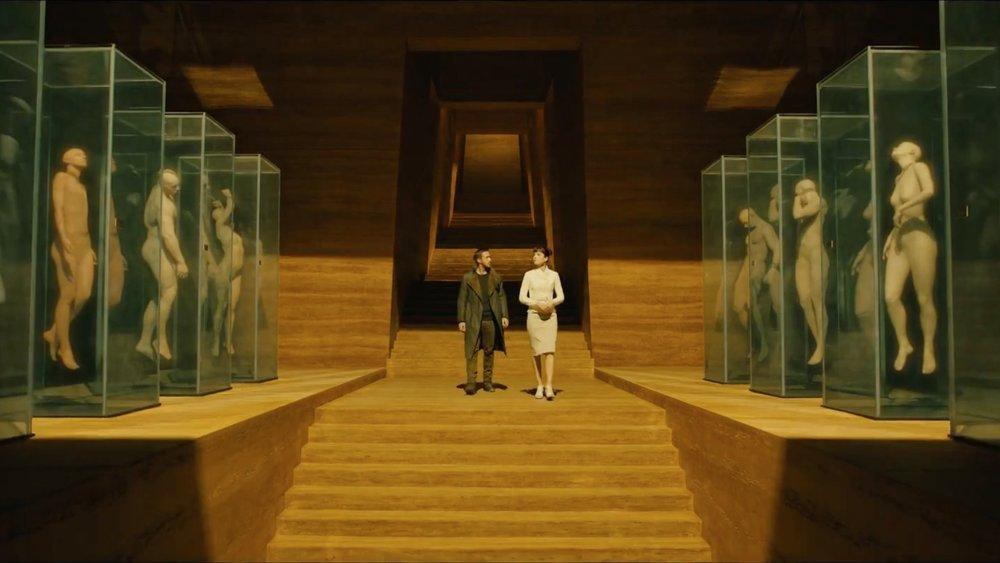 Stillbilde fra den visuelt smellvakre  Blade Runner 2049 .