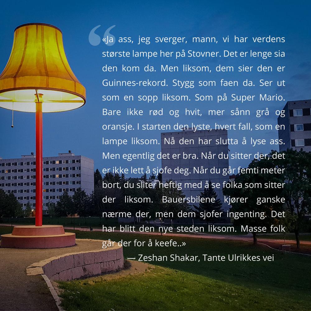 Heldigvis lyste verdens største lampe den kvelden jeg var der.