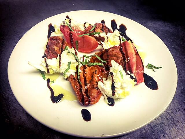 Winter Caprese Salad at Paterno's at the Park