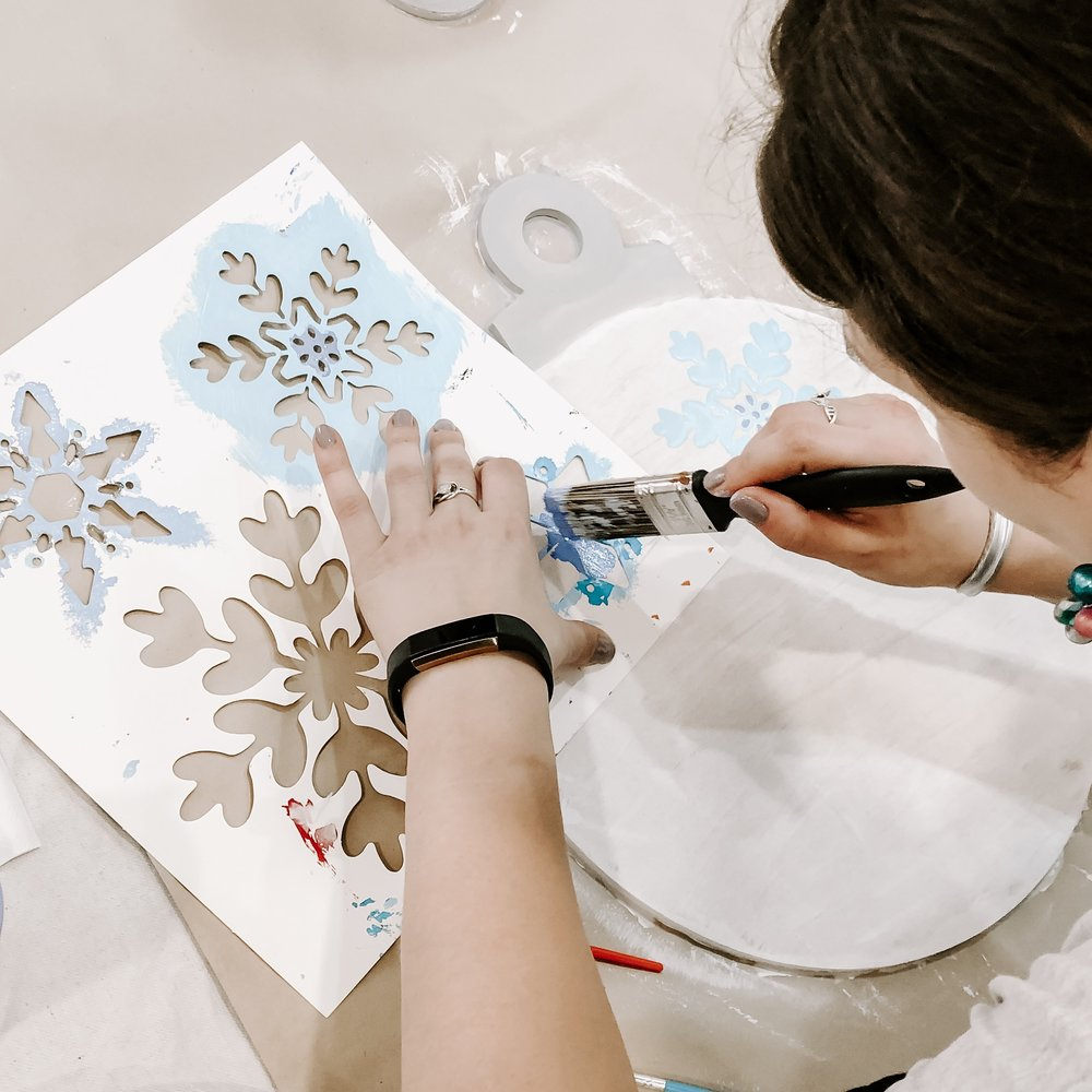 Stencils are a great place to start with creative design, but you may also prefer to free-hand your design!