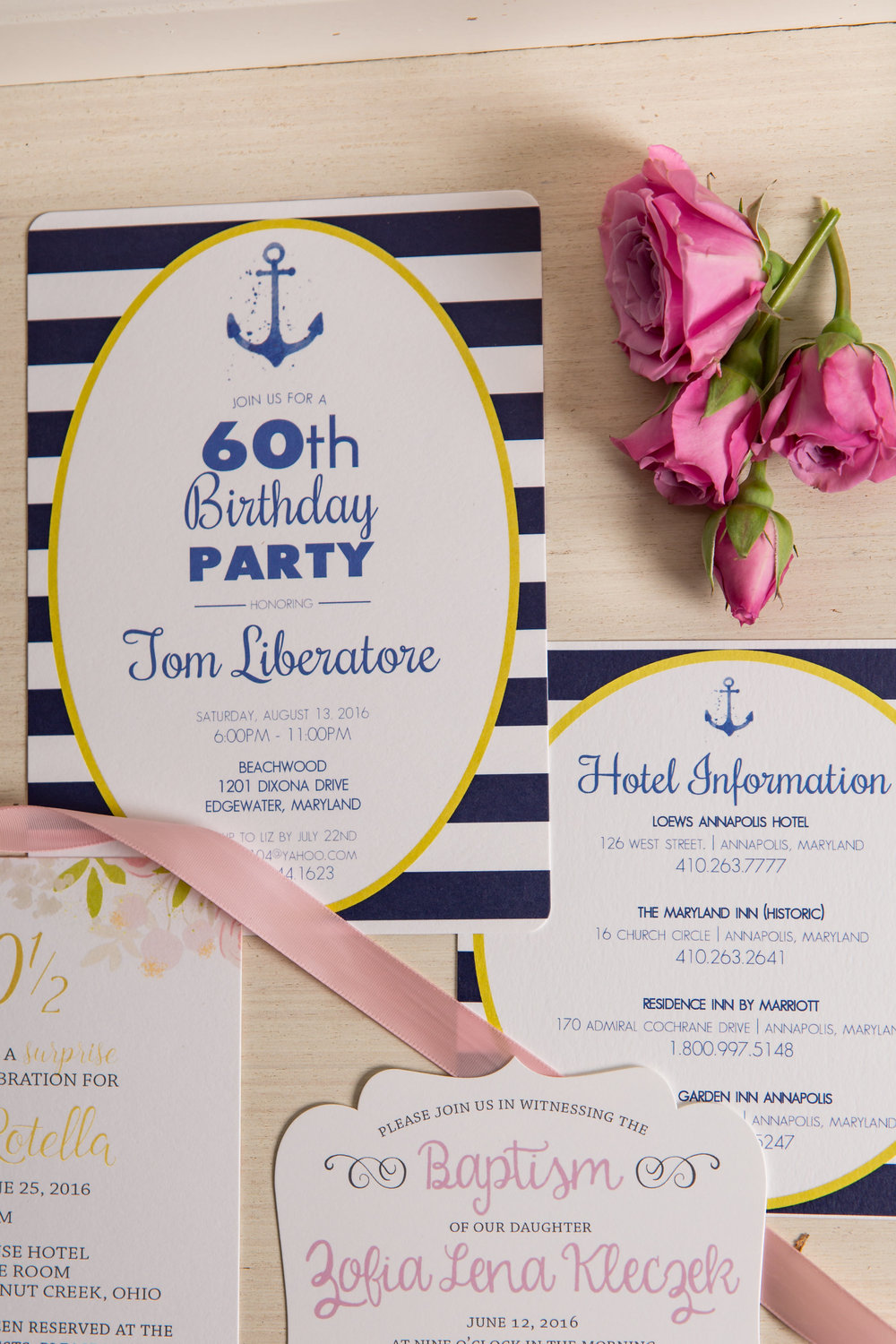 Invitations for parties and events can be designed to fit a multitude of party themes and events!
