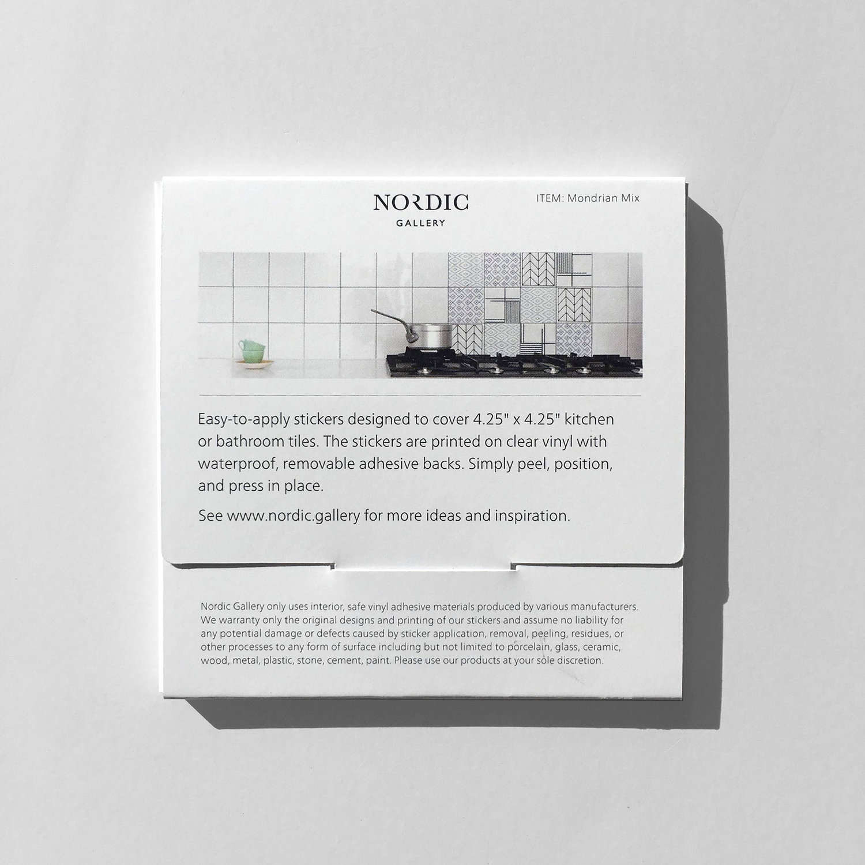 Mondrian - Tile Stickers 4.25x4.25 in — NORDIC.GALLERY