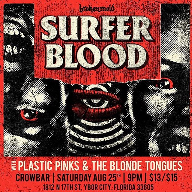 Right around the corner w/ @surferblood & @plasticpinks 🤘