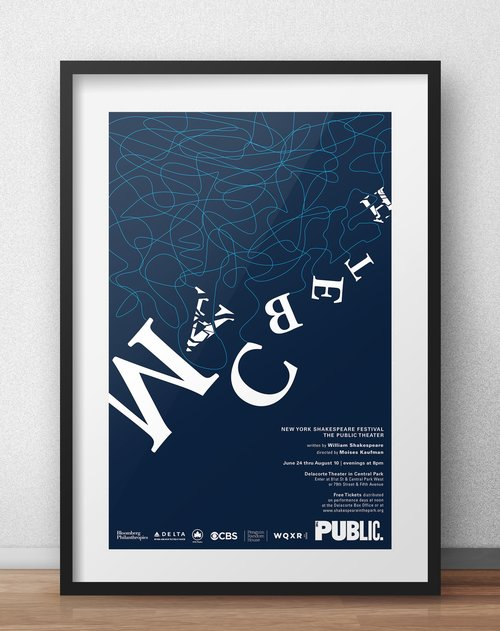 Macbeth Play Poster For Public Theater