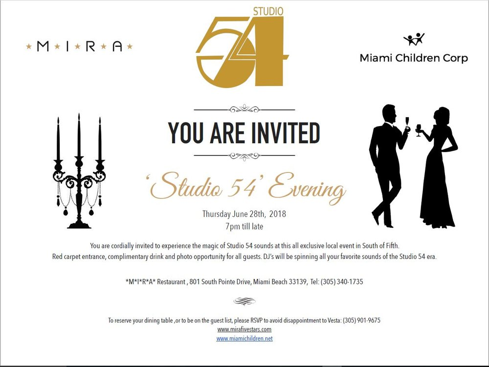 Official studio 54 invitation miami children corp stopboris Image collections