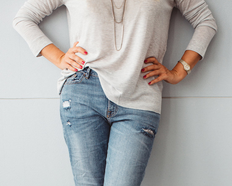 55820a4852a We know you ve seen this look on lots of younger women but we ll let you in  on a little secret - it s made for us! Not only does it add some highly ...