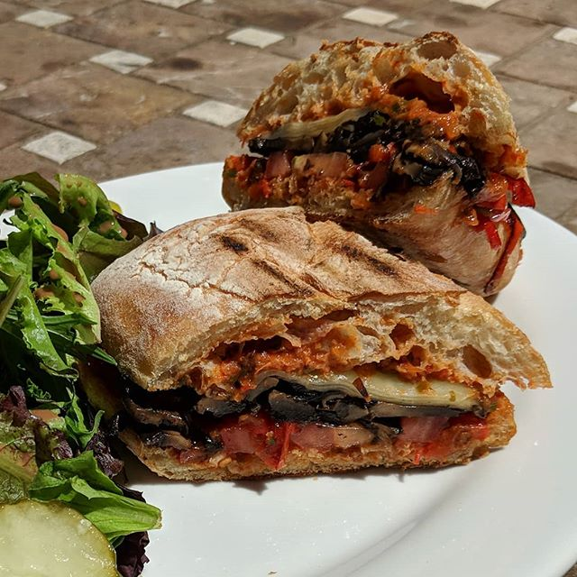 #mushroom #panino with homemade romesco. #yum