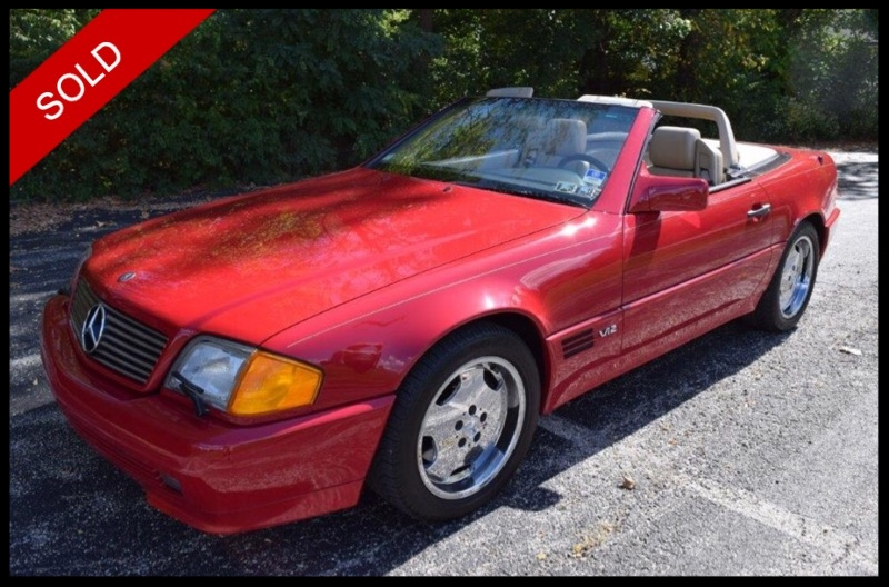 SOLD - 1994 Mercedes SL600 6.0L V12Imperial Red on BeigeVIN: WDBFA76E1RF104394