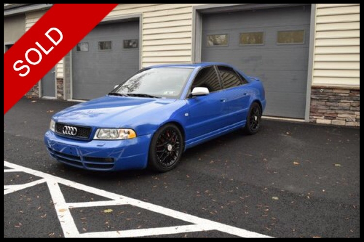 SOLD - Make: AudiModel: S4Mileage: 196,996 miExterior Color: Nogaro Blue PearlInterior Color: SilverTransmission: AutoEngine: 2.7 LDrivetrain: All Wheel DriveVIN: WAURD68DX2A000720