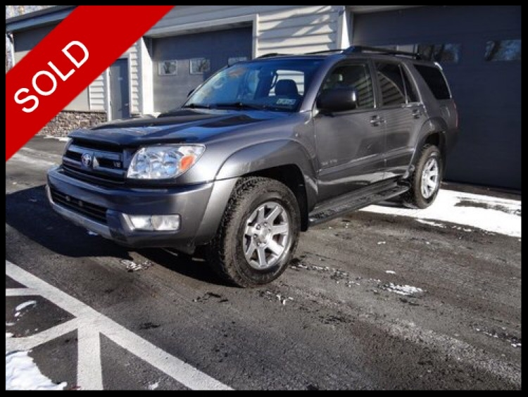 SOLD - 2003 Toyota 4Runner V8Galactic Gray Mica on GrayVIN: JTEBT14RX30026152
