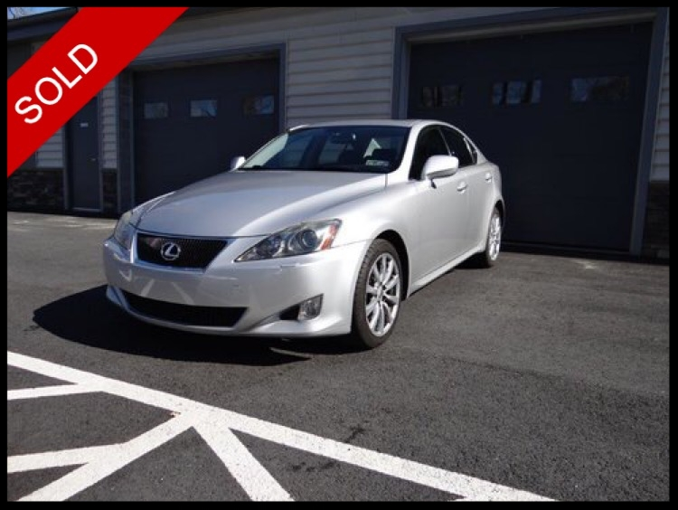 SOLD - Make: LexusModel: IS250Mileage: 65,223 miExterior Color: Millennium SilverInterior Color: BlackTransmission: AutoEngine: 2.5 LDrivetrain: AWDVIN: JTHCK262075010907