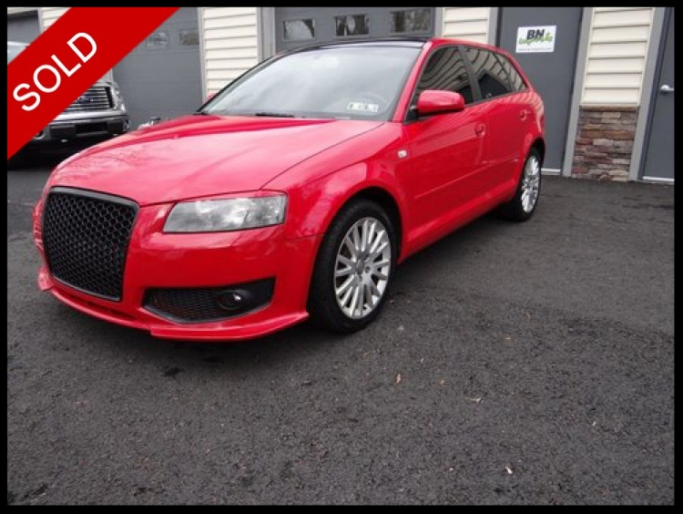 SOLD - 2006 Audi A3Brilliant Red on BlackVIN: WAUNF78P96A036896