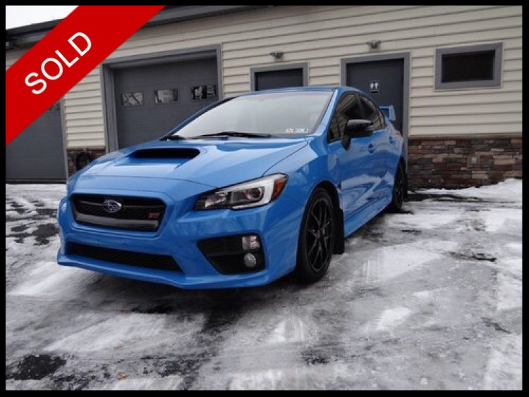 SOLD - 2016 Subaru WRX STiHyperBlue on BlackVIN: JF1VA2U69G9813264