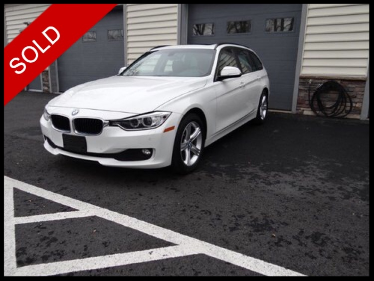 SOLD - 2014 BMW 328d xDrive WagonAlpine White on BlackVIN: WBA3K5C57EF776445