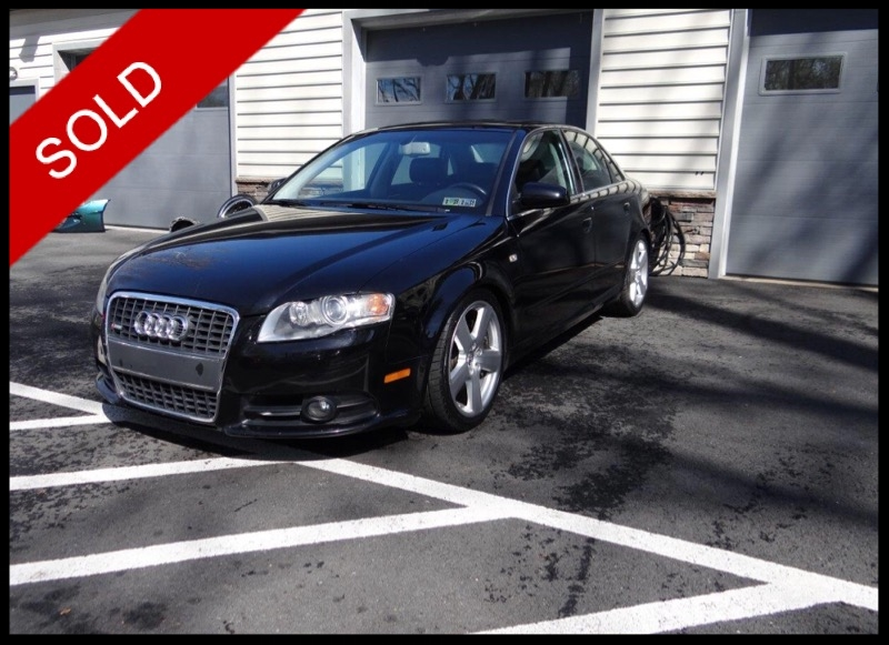 SOLD - 2008 Audi A4 S-Line 3.2Brilliant Black on BlackVIN: WAUDH78E68A060774