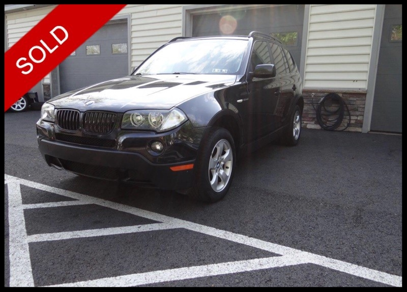 SOLD - 2007 BMW X3 3.0siBlack Sapphire Metallic on BlackVIN: WBXPC93437WF14320