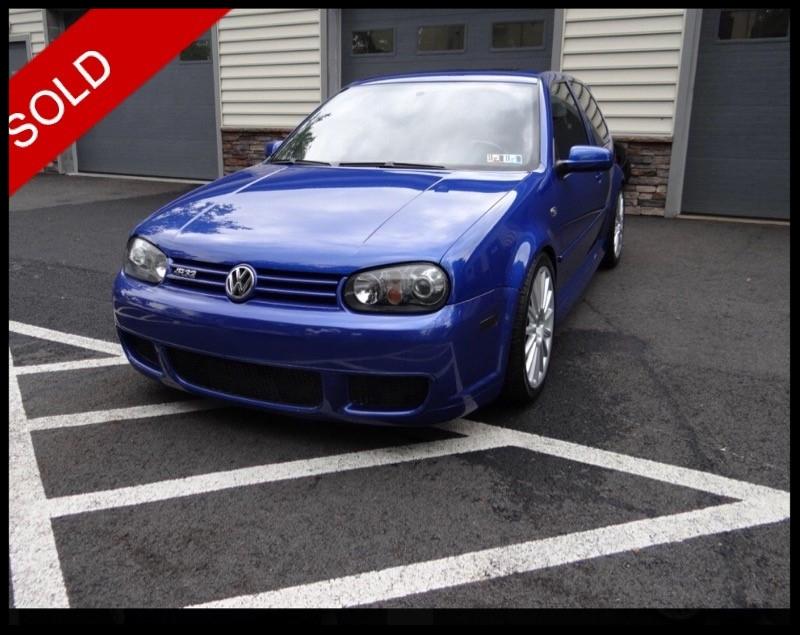 SOLD - 2004 VW R32Deep Blue Pearl on BlackVIN:WVWKG61J34D129461