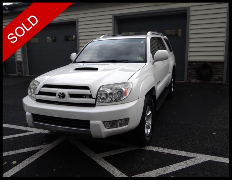 SOLD - 2005 Toyota 4Runner Sport V8Brilliant White on BlackVIN: JTEBT14R650053190