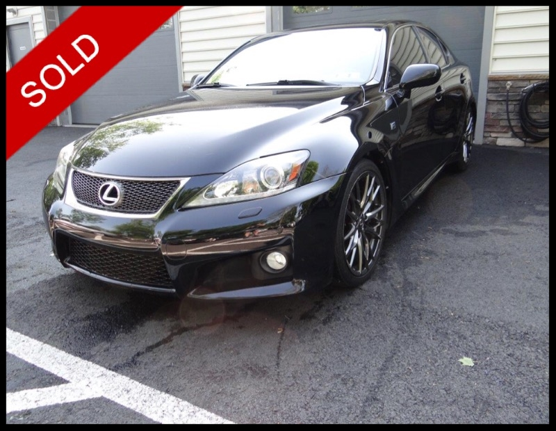 SOLD - Make: LexusModel: IS FMileage: 44,637 miExterior Color: Obsidian BlackInterior Color: BlackTransmission: AutoEngine: 5.0 LDrivetrain: RWDVIN: JTHBP5C29B5009489