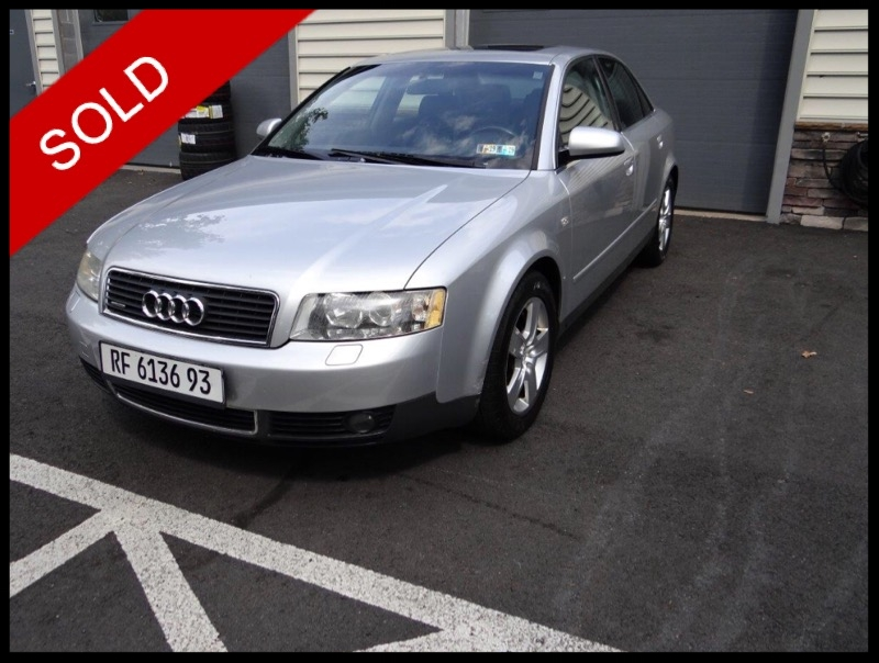 SOLD - 2002 Audi A4 3.0 QuattroLight Silver Metallic on BlackVIN: WAULT68E12A157442