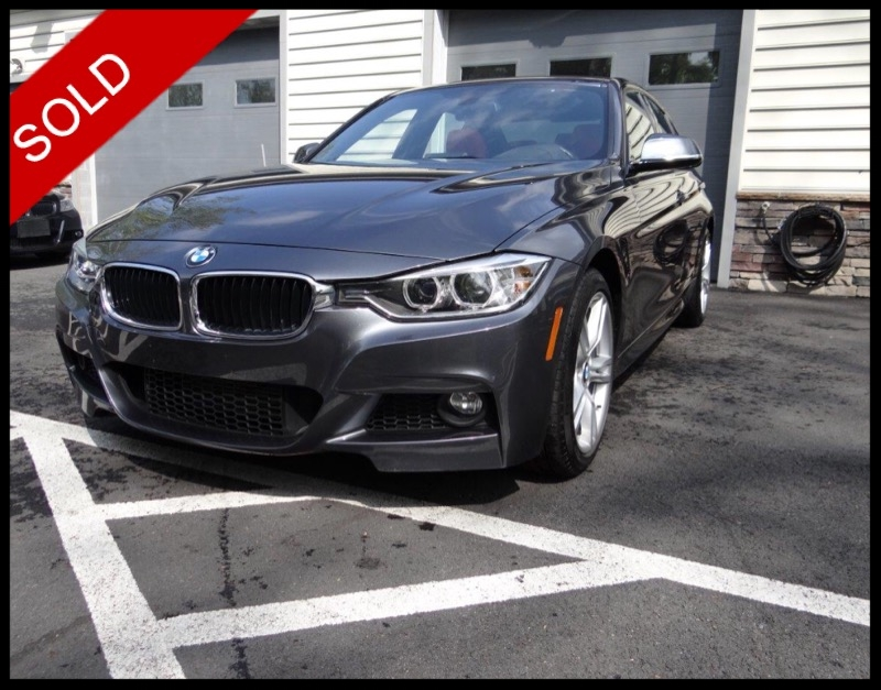 SOLD - 2015 BMW 335i xDrive M-SportMineral Gray on Coral RedVIN: WBA3B9C56FJ466373