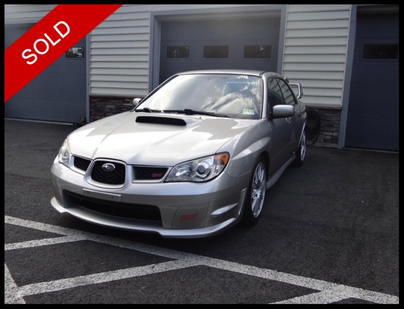 SOLD - 2007 Subaru WRX STISteel Gray Metallic on BlueVIN: JF1GD76677L505152