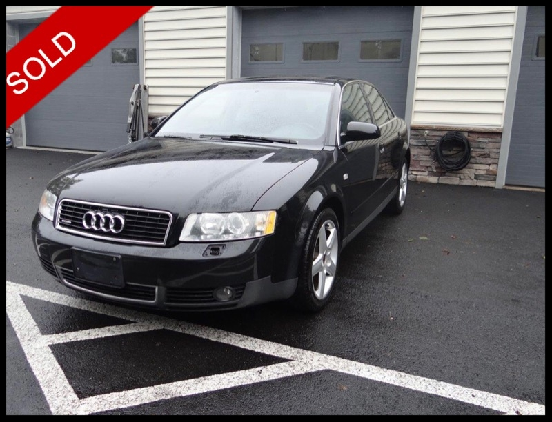 SOLD - 2003 Audi A4 Quattro 3.0Brilliant Black on BlackVIN: WAULT68E03A288234