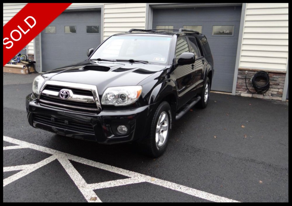 SOLD - Make: ToyotaModel: 4RunnerMileage: 167,894 miExterior Color: BlackInterior Color: BlackTransmission: AutoEngine: 4.0 LDrivetrain: 4x4VIN: JTEBU14R478083175