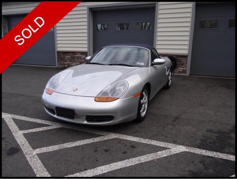 SOLD - 2000 Porsche BoxsterArctic Silver on Metropol BlueVIN: WP0CA2986YU621648