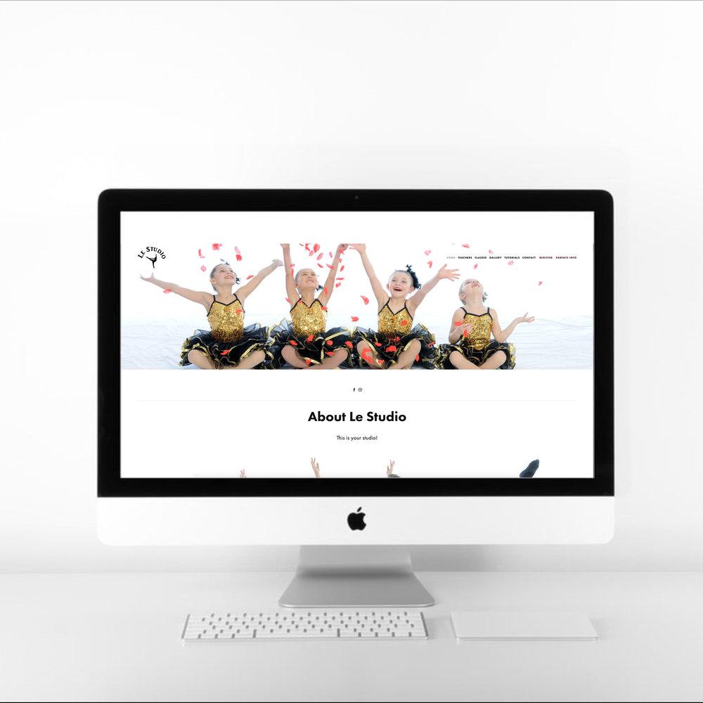 PAX e-Graphic dance studio website design