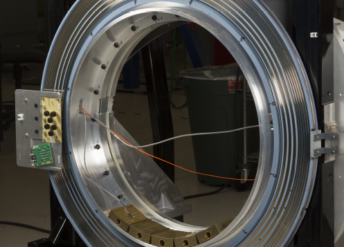 Slip Ring being tested for use on a security system