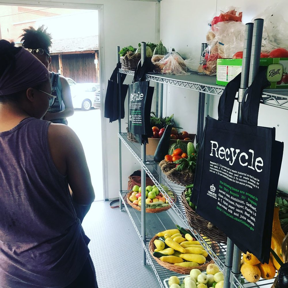 How do we fulfill our mission? - We have a mobile market systems that provides mostly local produce in up to 30 neighborhoods per month.