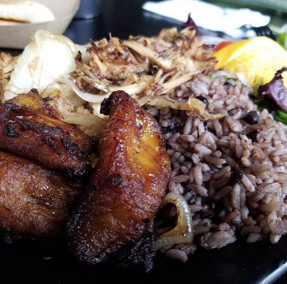 CUBAN PLATE - GRILLED CHICKEN, SIRLOIN STEAK, ROASTED PORK, ROPA VIEJA, CRISPY BEEF OR SALMONServed with Congri, Sweet Plantains or YucaMixed Greens and Cuban Bread