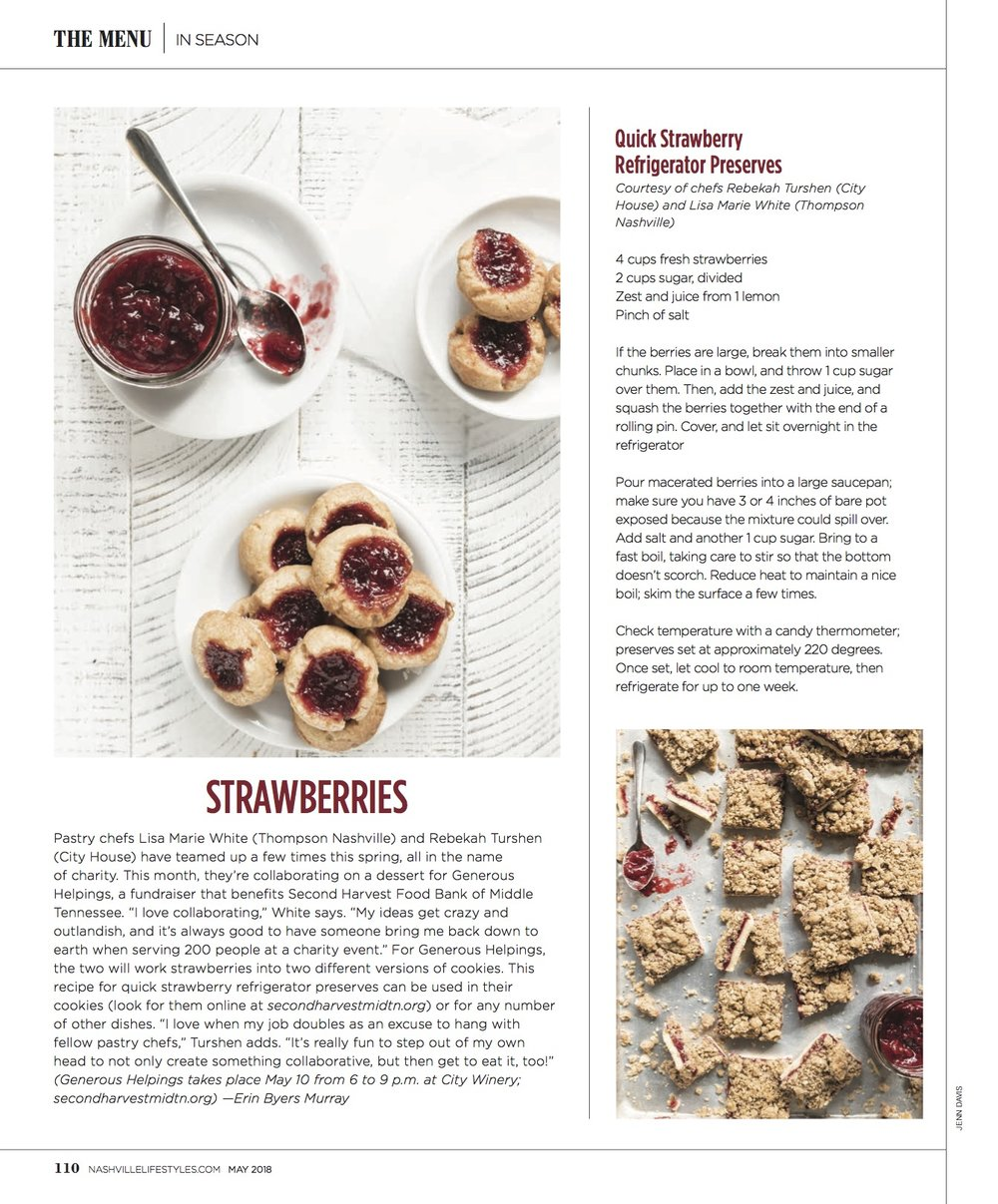 Jenn Davis Food Photographer Nashville Lifestyles Strawberries