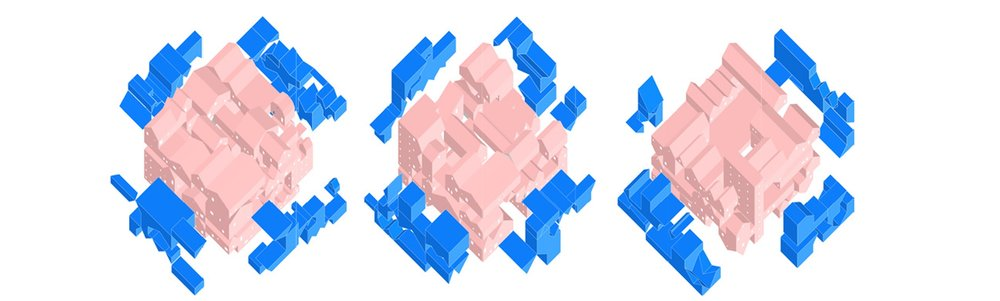 LEFT OVER SPACES IN EACH OF THE THREE BLOCK TYPOLOGIES
