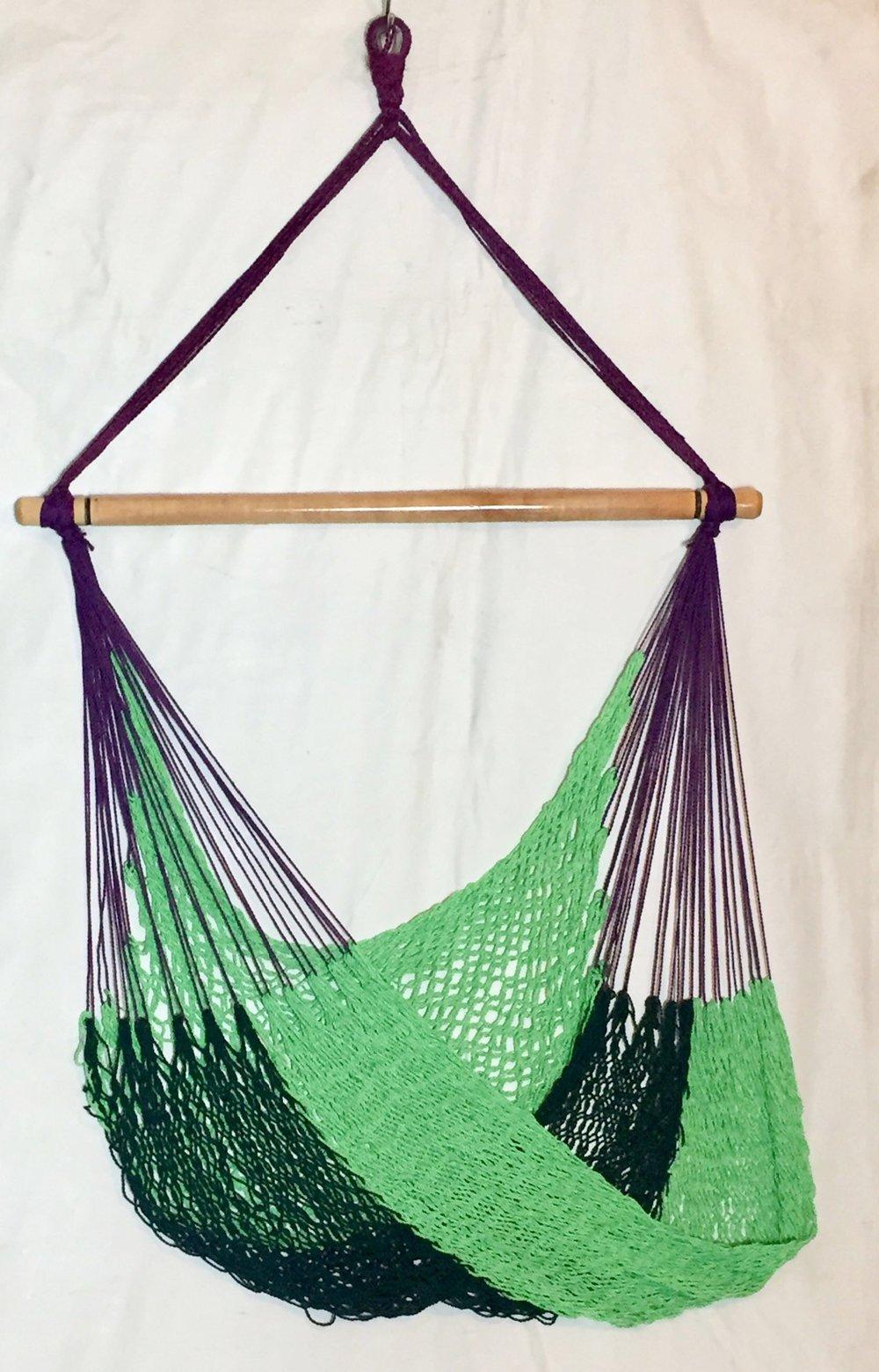 Hammock Chair Purple Green