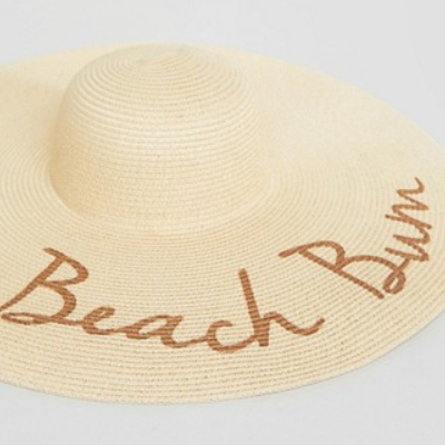 Straw hat beach bum Asos