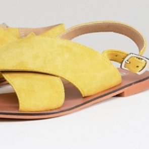 Yellow leather sandals Asos