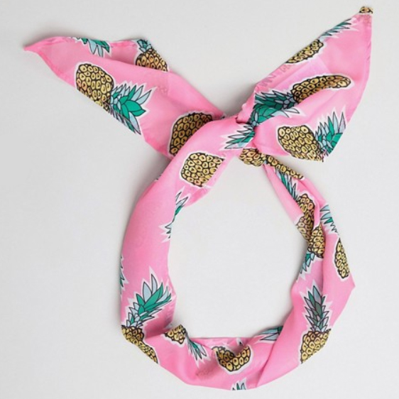 Headscarf hair pineapple pink Asos