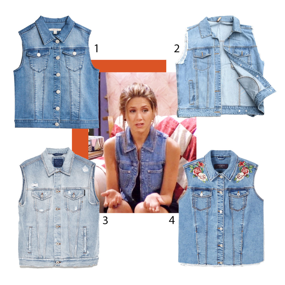 Denim vest gilet rachel green