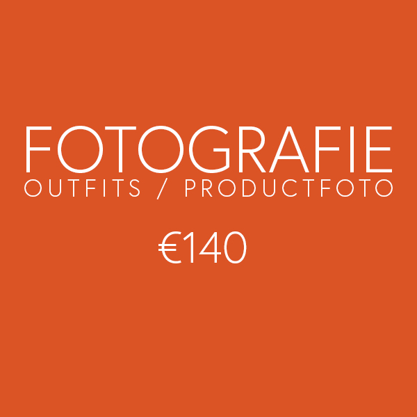 Social media tarieven - Fotografie outfits of productfoto