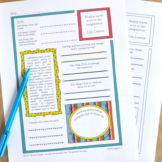 printable guided journal pages -