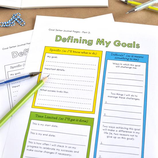journaling your goals -
